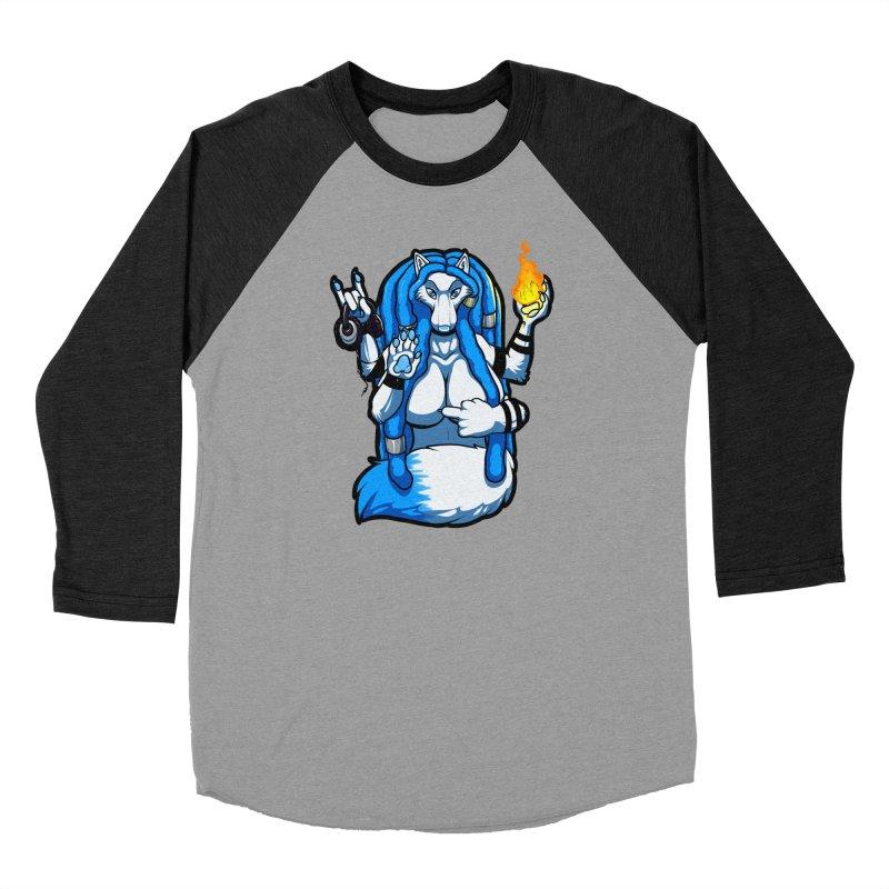 Fox Shiva Men's Baseball Triblend Longsleeve T-Shirt by farorenightclaw's Shop