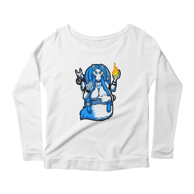 Fox Shiva Women's Scoop Neck Longsleeve T-Shirt by farorenightclaw's Shop