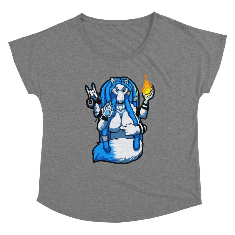 Fox Shiva Women's Dolman Scoop Neck by farorenightclaw's Shop