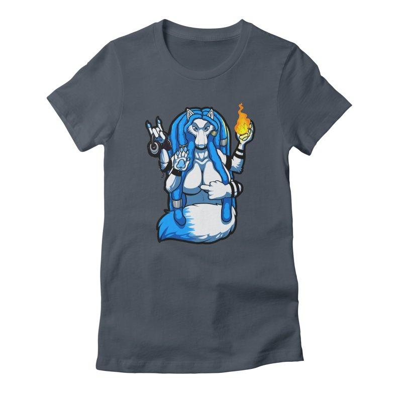 Fox Shiva Women's T-Shirt by farorenightclaw's Shop