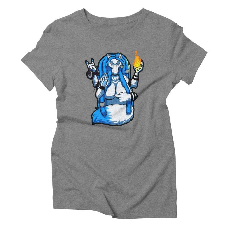 Fox Shiva Women's Triblend T-Shirt by farorenightclaw's Shop