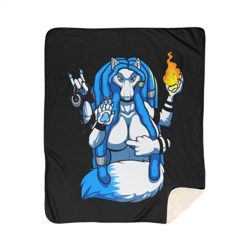 Fox Shiva Home Sherpa Blanket Blanket by farorenightclaw's Shop