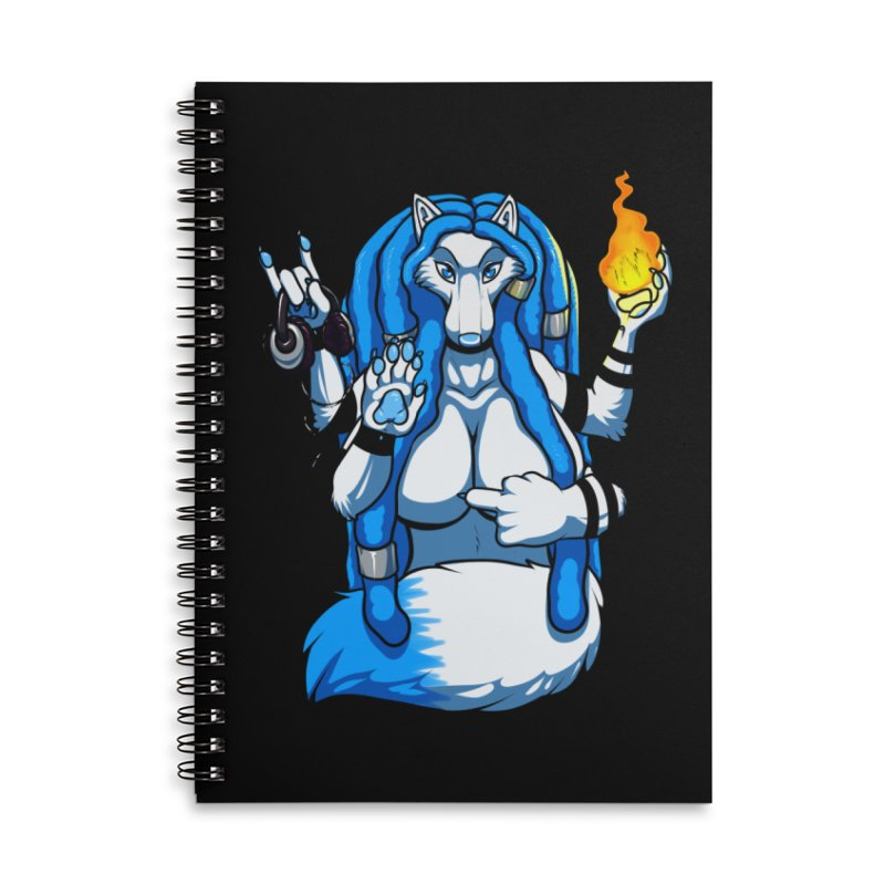 Fox Shiva Accessories Lined Spiral Notebook by farorenightclaw's Shop
