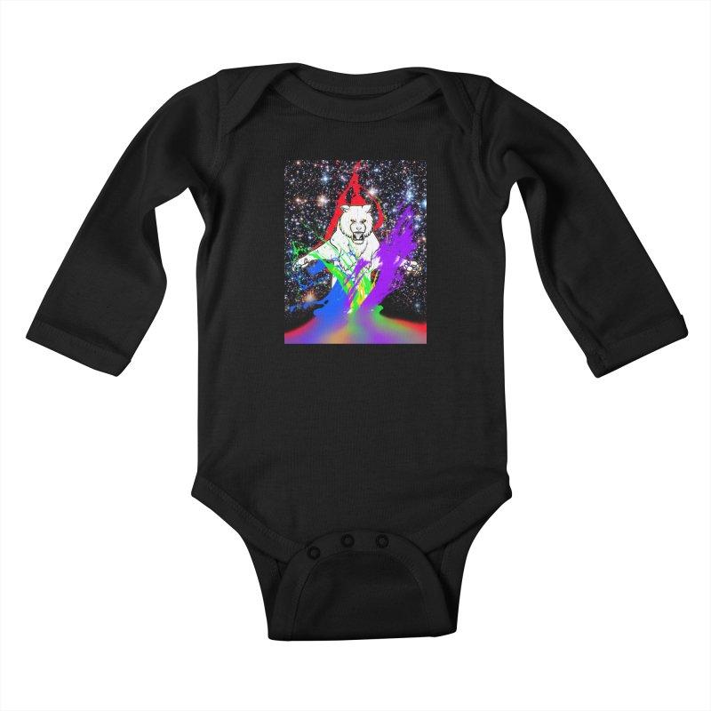 Tigers! From! SPAAAACE! Kids Baby Longsleeve Bodysuit by farorenightclaw's Shop