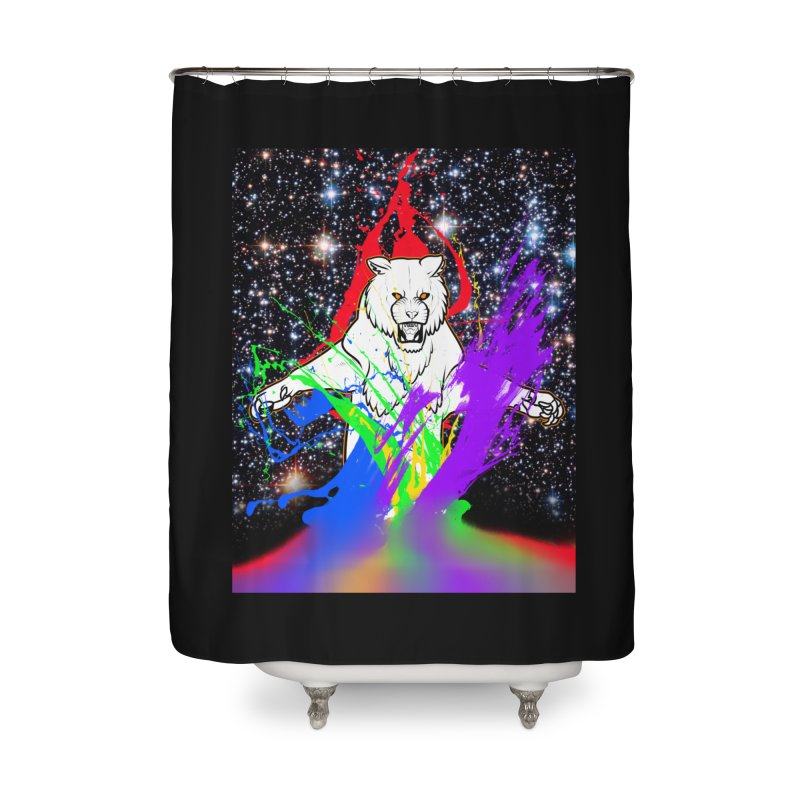Tigers! From! SPAAAACE! Home Shower Curtain by farorenightclaw's Shop