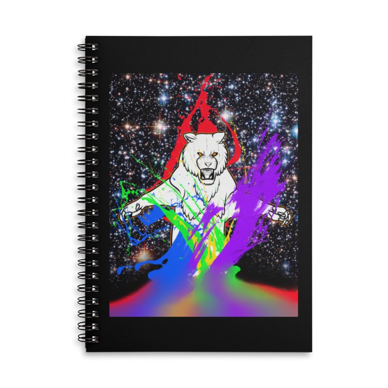 Tigers! From! SPAAAACE! Accessories Lined Spiral Notebook by farorenightclaw's Shop