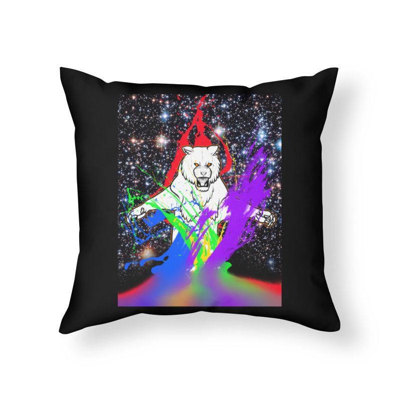 Tigers! From! SPAAAACE! Home Throw Pillow by farorenightclaw's Shop