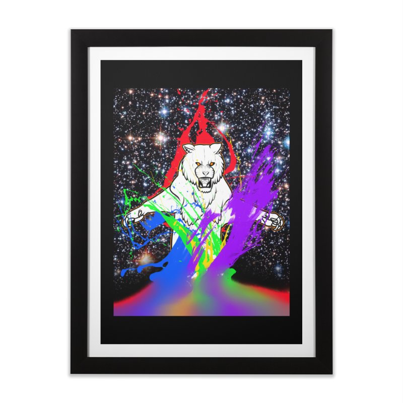 Tigers! From! SPAAAACE! Home Framed Fine Art Print by farorenightclaw's Shop
