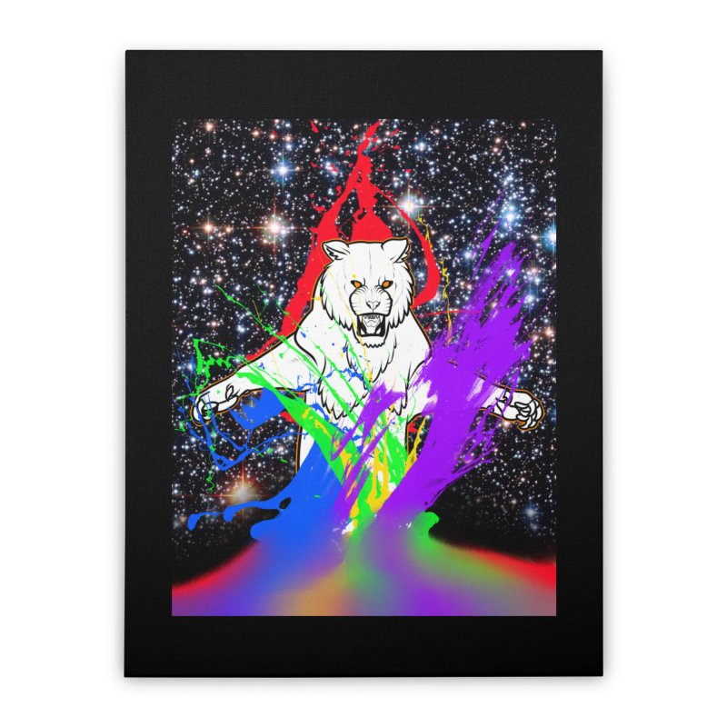 Tigers! From! SPAAAACE! Home Stretched Canvas by farorenightclaw's Shop