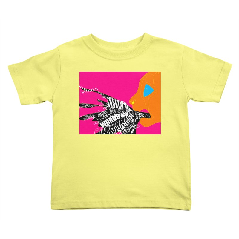 Pressured Speech Kids Toddler T-Shirt by farorenightclaw's Shop
