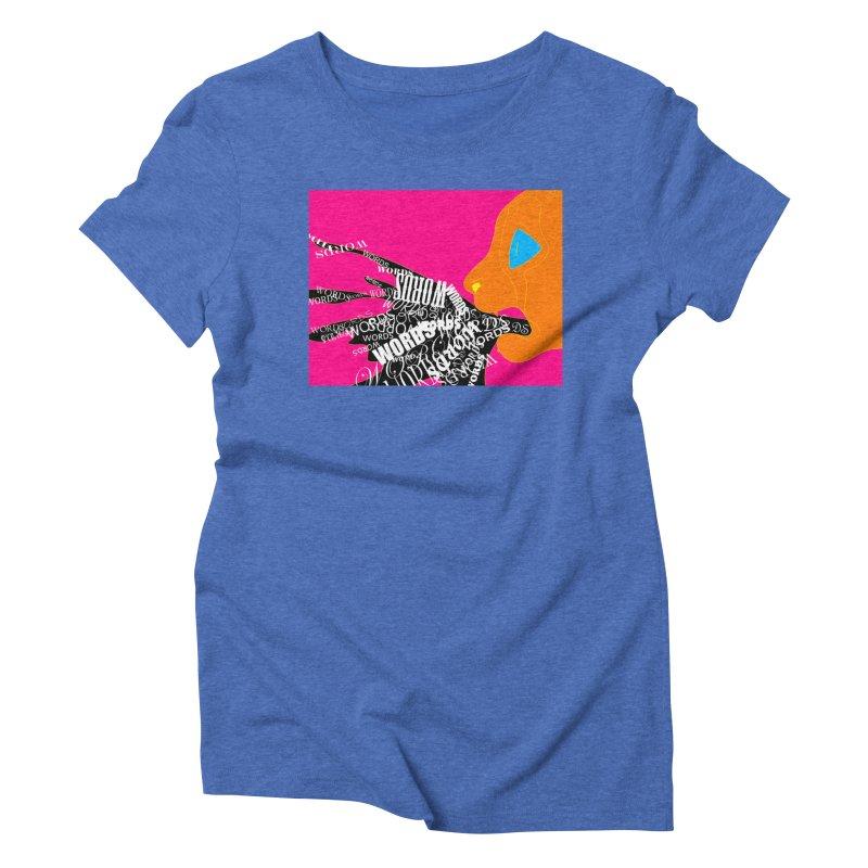 Pressured Speech Women's Triblend T-Shirt by farorenightclaw's Shop