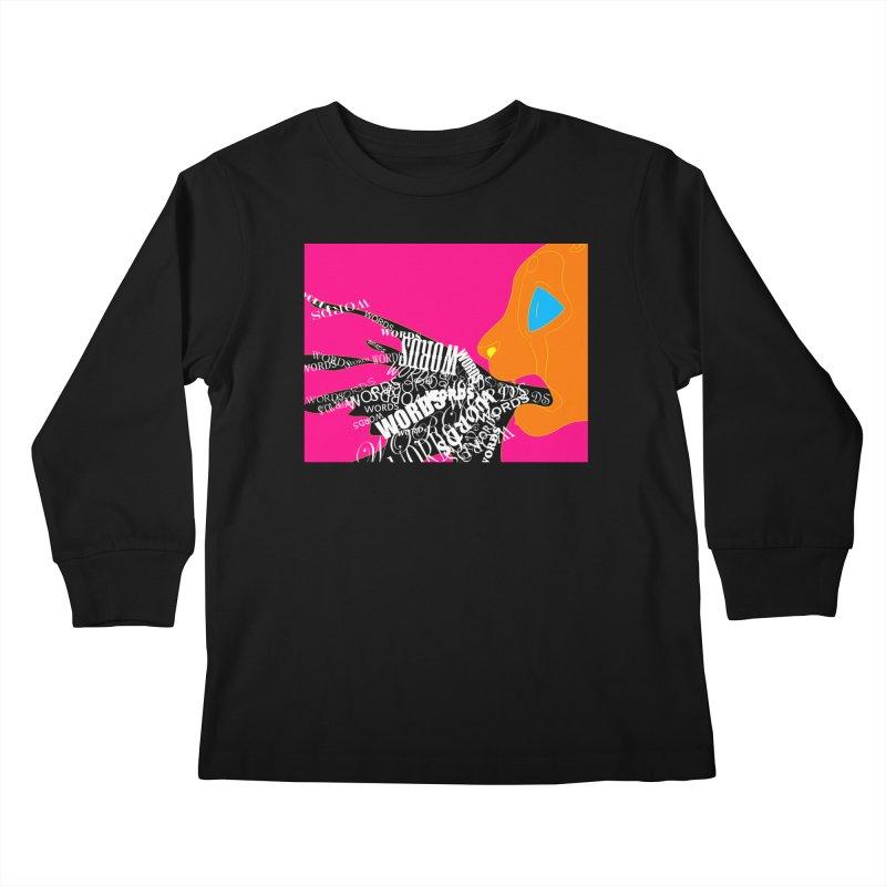 Pressured Speech Kids Longsleeve T-Shirt by farorenightclaw's Shop