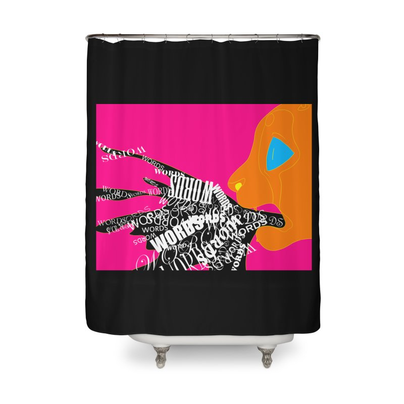 Pressured Speech Home Shower Curtain by farorenightclaw's Shop