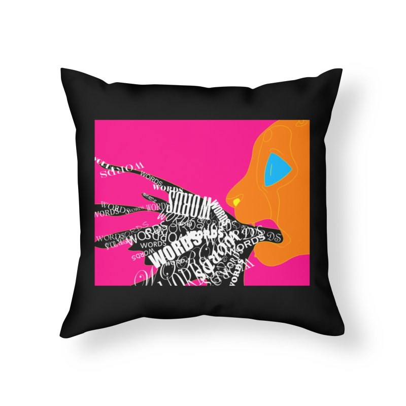 Pressured Speech Home Throw Pillow by farorenightclaw's Shop