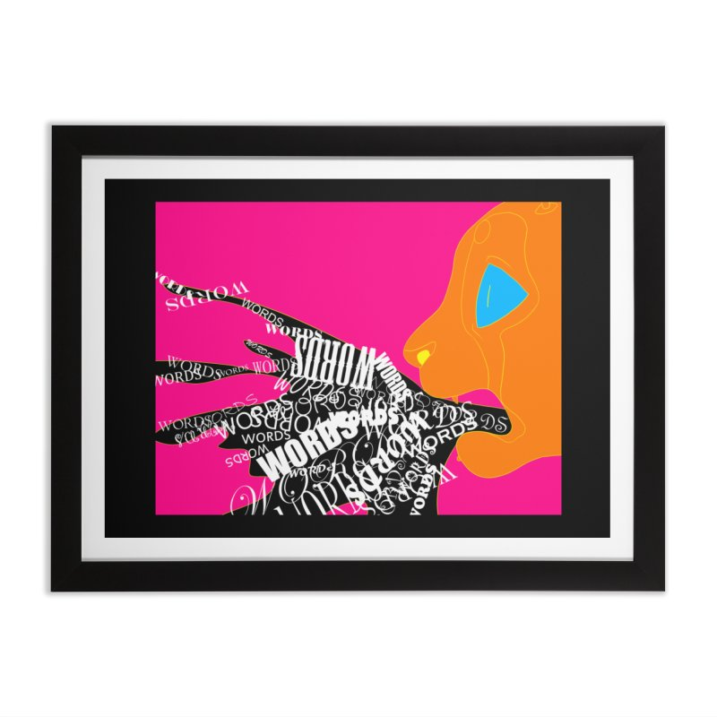 Pressured Speech Home Framed Fine Art Print by farorenightclaw's Shop