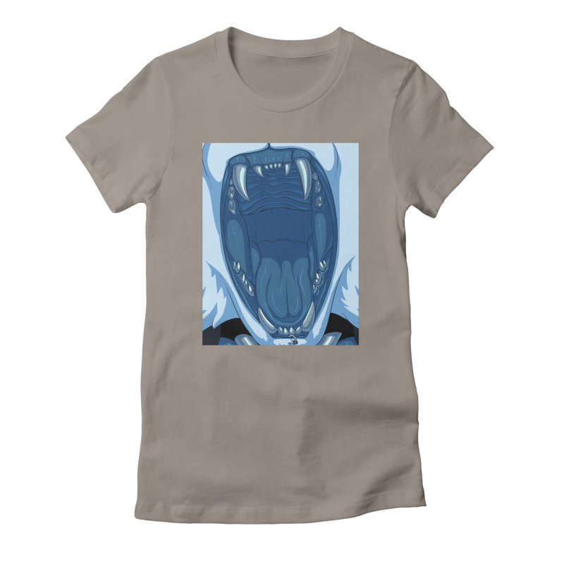 Maw Women's Fitted T-Shirt by farorenightclaw's Shop