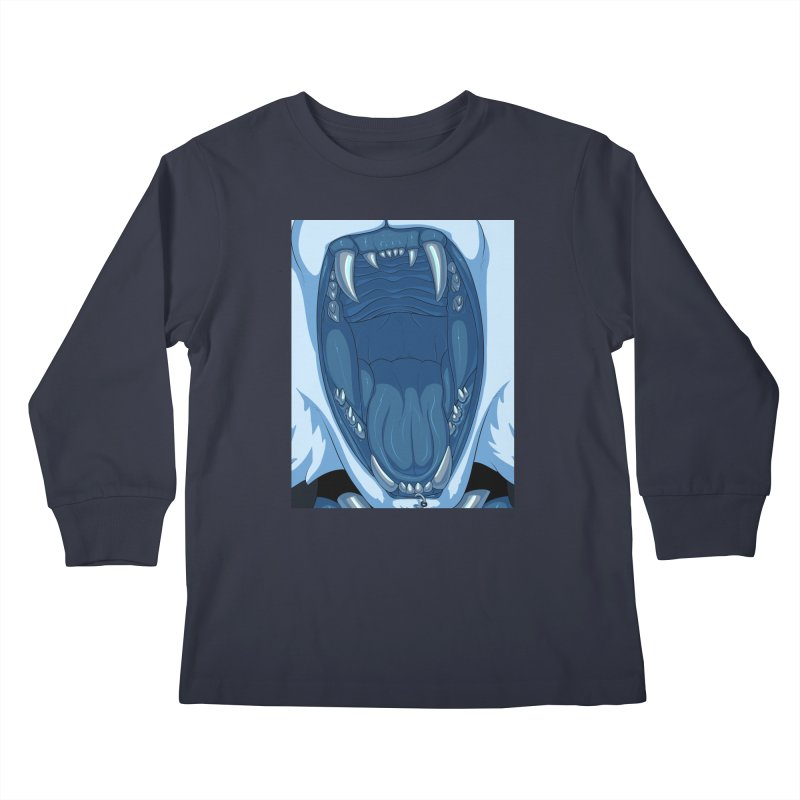 Maw Kids Longsleeve T-Shirt by farorenightclaw's Shop
