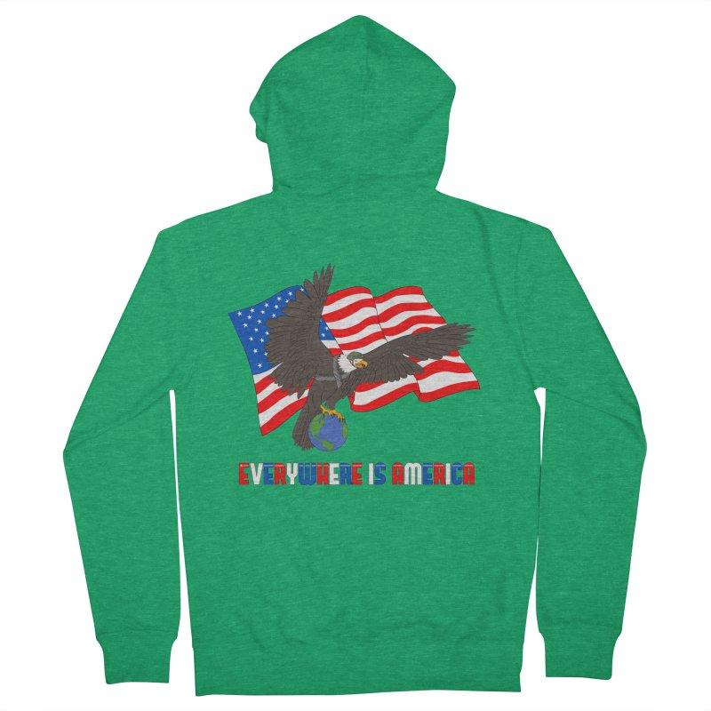 EVERYWHERE IS AMERICA Women's Zip-Up Hoody by farorenightclaw's Shop