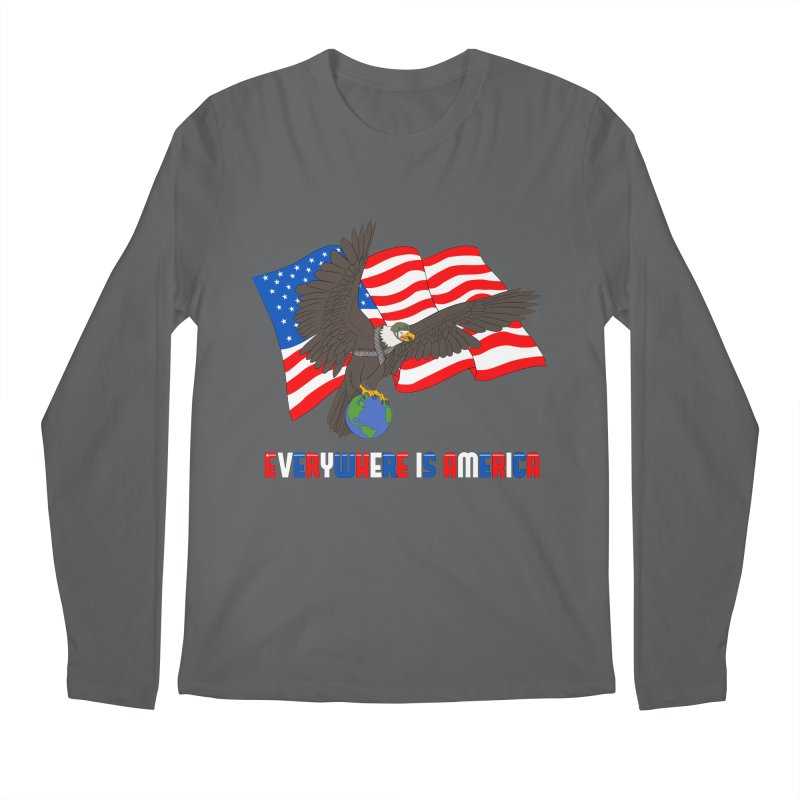 EVERYWHERE IS AMERICA Men's Longsleeve T-Shirt by farorenightclaw's Shop