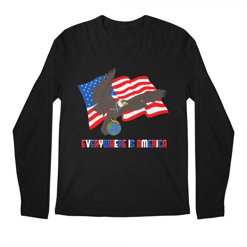 EVERYWHERE IS AMERICA Men's Regular Longsleeve T-Shirt by farorenightclaw's Shop