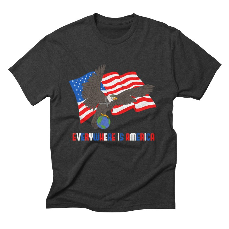 EVERYWHERE IS AMERICA Men's Triblend T-Shirt by farorenightclaw's Shop