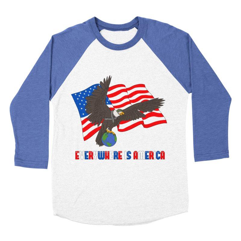 EVERYWHERE IS AMERICA Women's Baseball Triblend Longsleeve T-Shirt by farorenightclaw's Shop