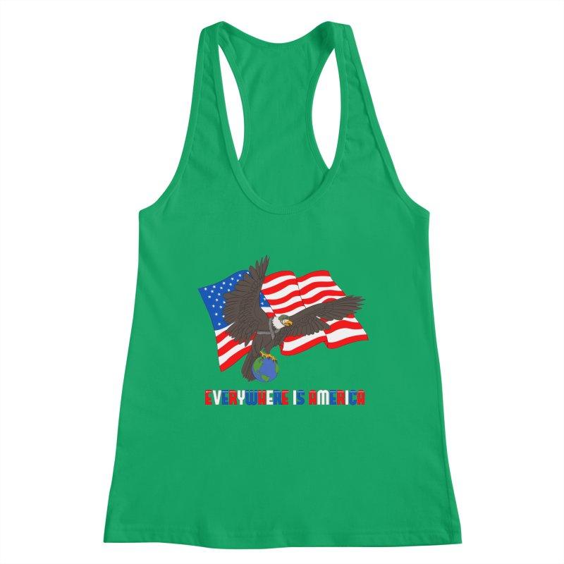 EVERYWHERE IS AMERICA Women's Tank by farorenightclaw's Shop