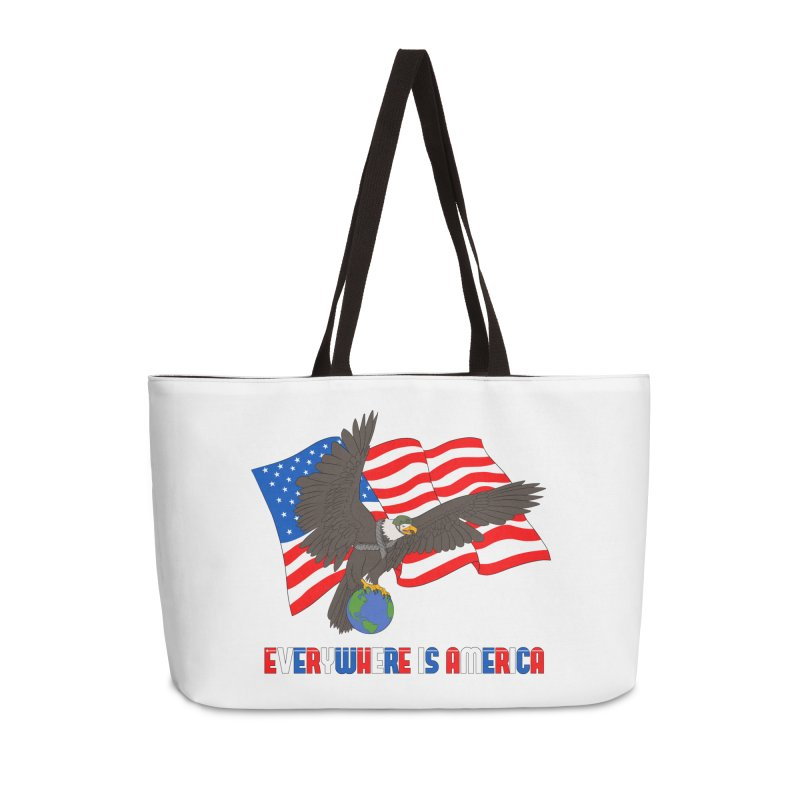 EVERYWHERE IS AMERICA Accessories Weekender Bag Bag by farorenightclaw's Shop