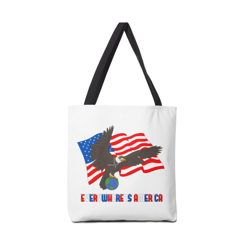 EVERYWHERE IS AMERICA Accessories Tote Bag Bag by farorenightclaw's Shop