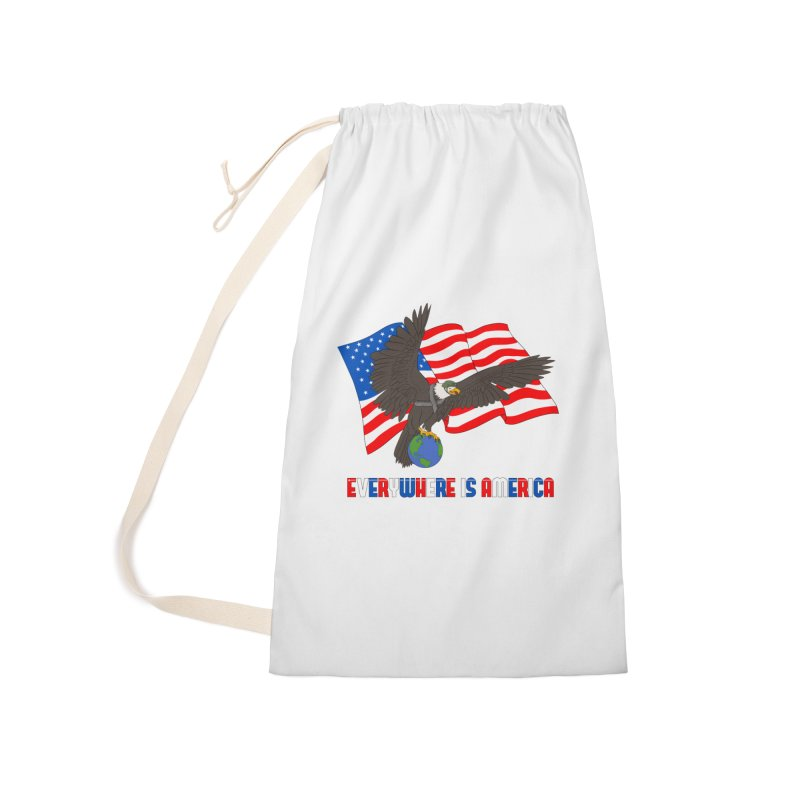 EVERYWHERE IS AMERICA Accessories Laundry Bag Bag by farorenightclaw's Shop