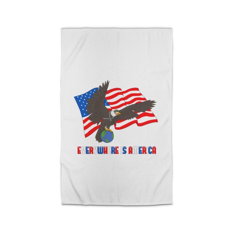 EVERYWHERE IS AMERICA Home Rug by farorenightclaw's Shop