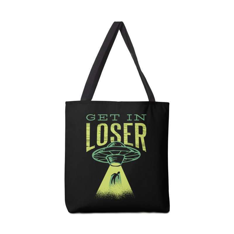 Get In Loser UFO Abduction Accessories Bag by Far Out Sky - A Popular Ventures Company