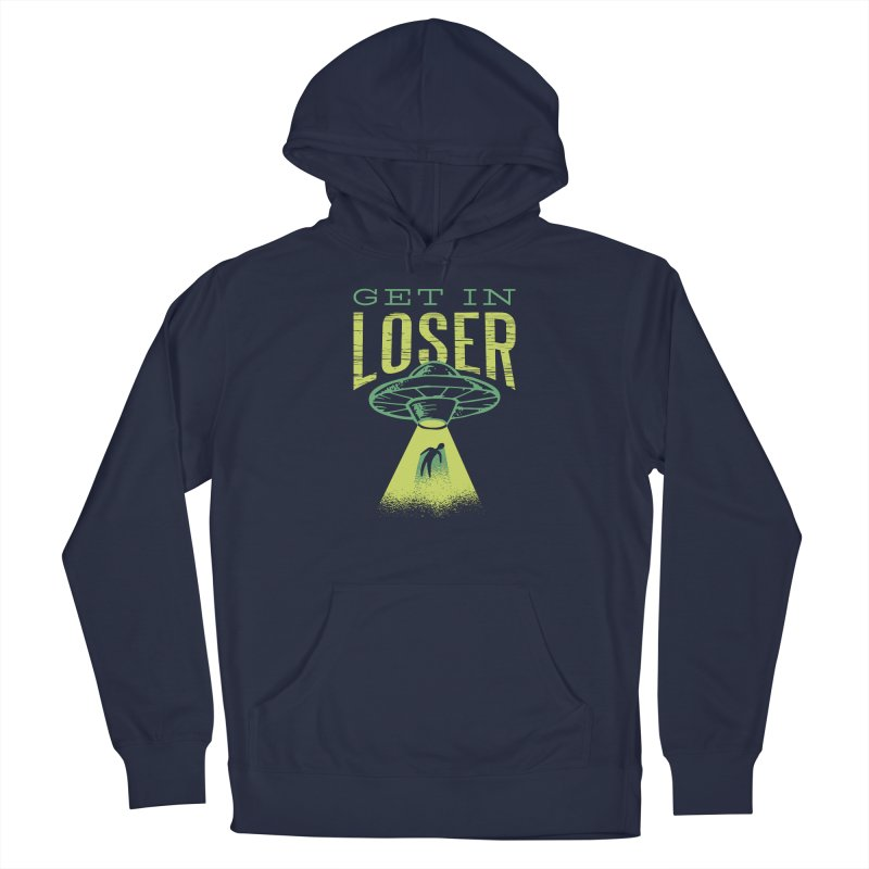 Get In Loser UFO Abduction Men's Pullover Hoody by Far Out Sky - A Popular Ventures Company