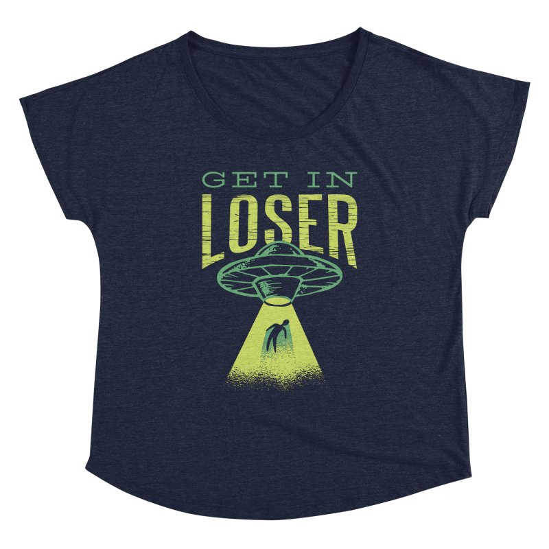 Get In Loser UFO Abduction Women's Scoop Neck by Far Out Sky - A Popular Ventures Company