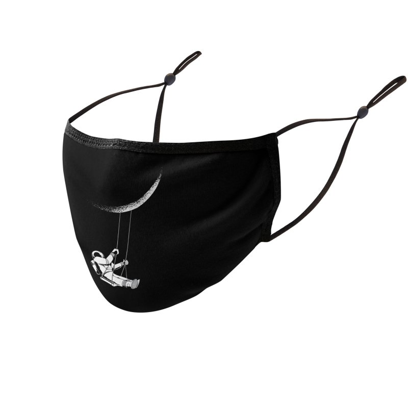 Astronaut Swinging From The Moon Accessories Face Mask by Far Out Sky - A Popular Ventures Company