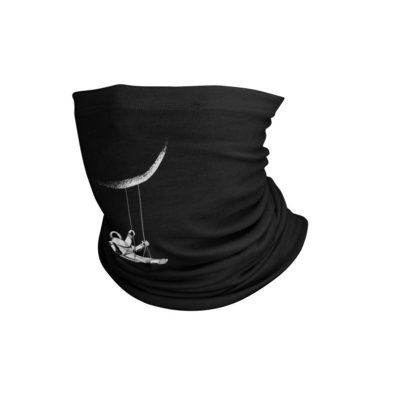 Astronaut Swinging From The Moon Accessories Neck Gaiter by Far Out Sky - A Popular Ventures Company