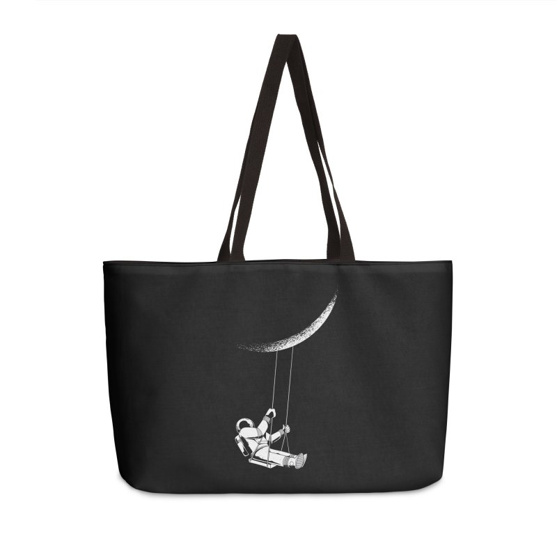Astronaut Swinging From The Moon Accessories Bag by Far Out Sky - A Popular Ventures Company