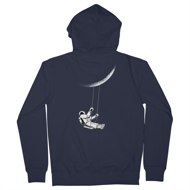Astronaut Swinging From The Moon Women's Zip-Up Hoody by Far Out Sky - A Popular Ventures Company