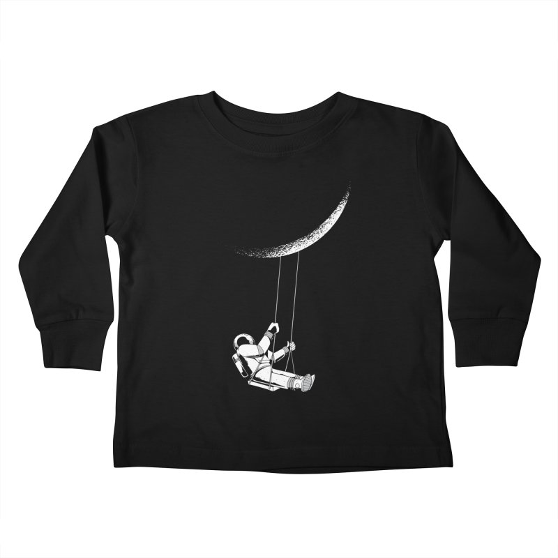 Astronaut Swinging From The Moon Kids Toddler Longsleeve T-Shirt by Far Out Sky - A Popular Ventures Company