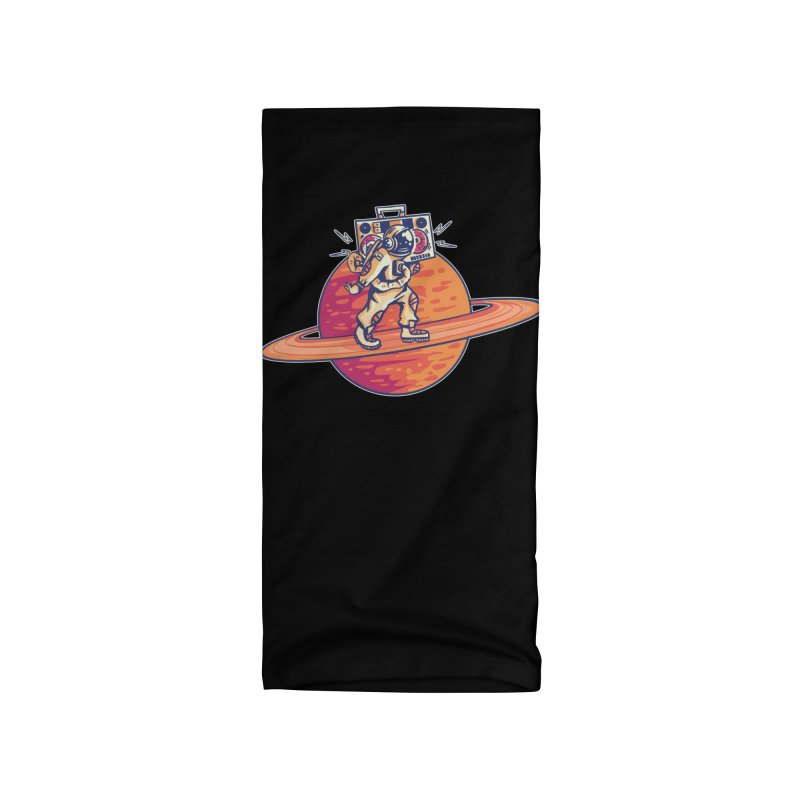 Astronaut Walking Rings Of Saturn Accessories Neck Gaiter by Far Out Sky - A Popular Ventures Company