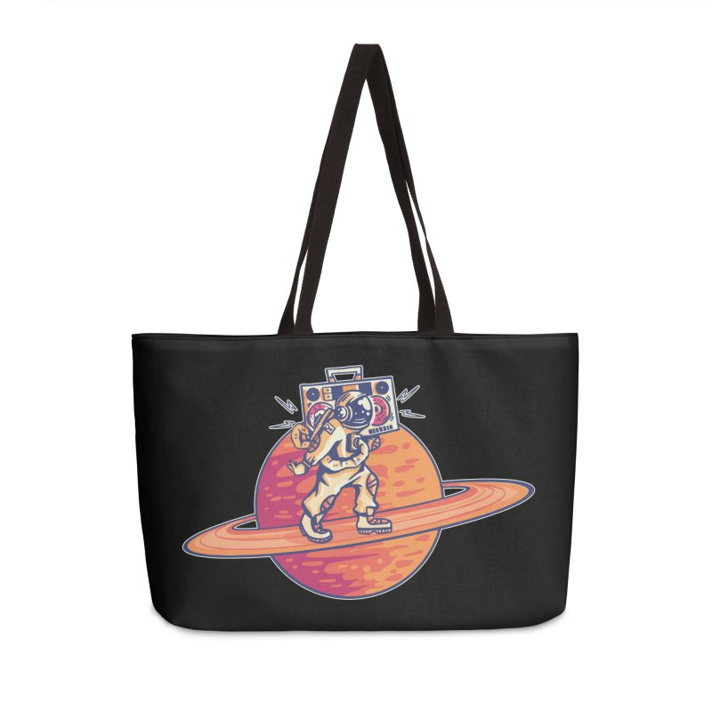 Astronaut Walking Rings Of Saturn Accessories Bag by Far Out Sky - A Popular Ventures Company