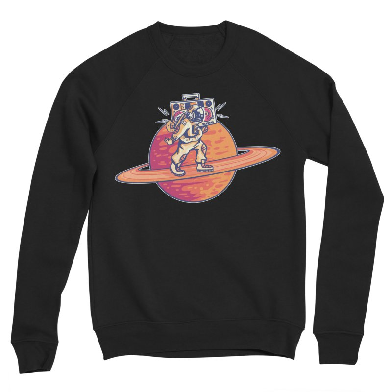 Astronaut Walking Rings Of Saturn Women's Sweatshirt by Far Out Sky - A Popular Ventures Company