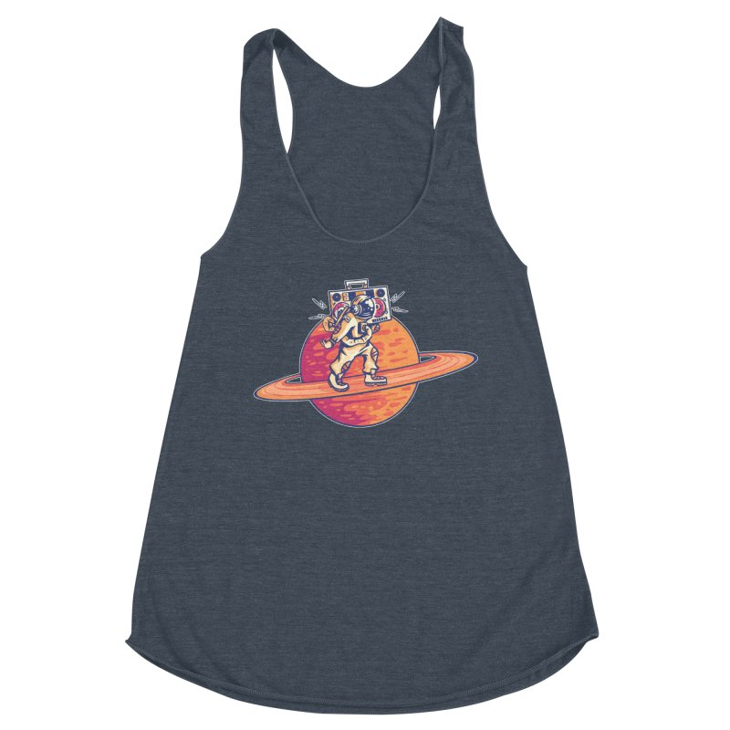 Astronaut Walking Rings Of Saturn Women's Tank by Far Out Sky - A Popular Ventures Company