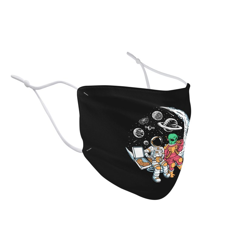 Pizza Party In Space Accessories Face Mask by Far Out Sky - A Popular Ventures Company