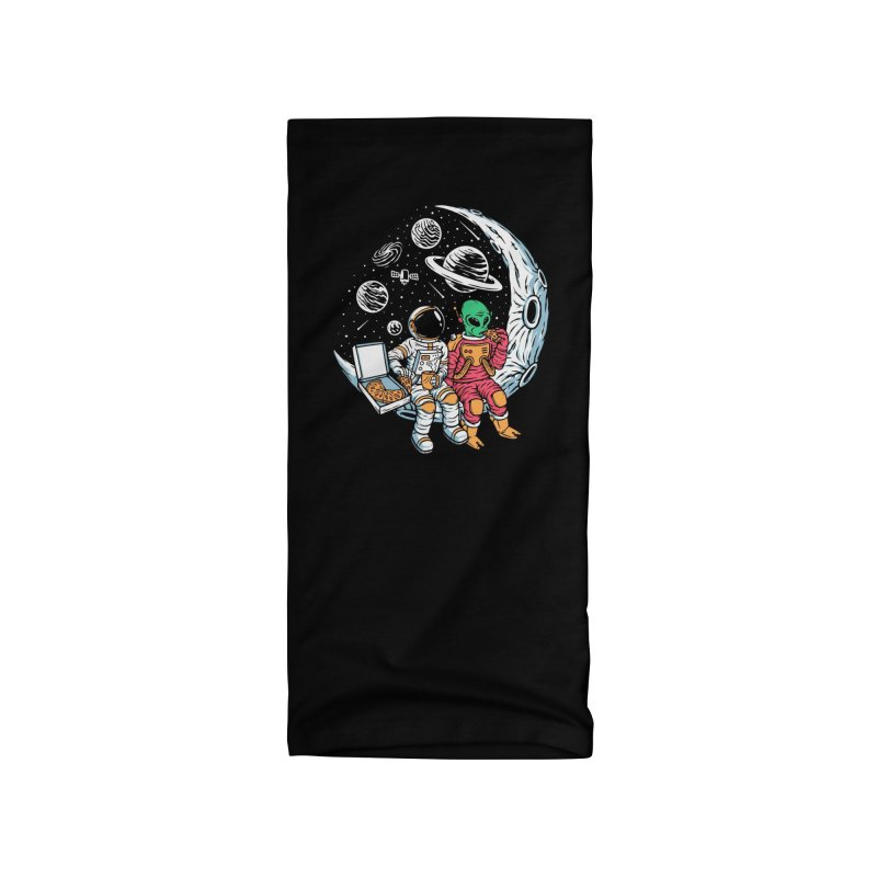Pizza Party In Space Accessories Neck Gaiter by Far Out Sky - A Popular Ventures Company
