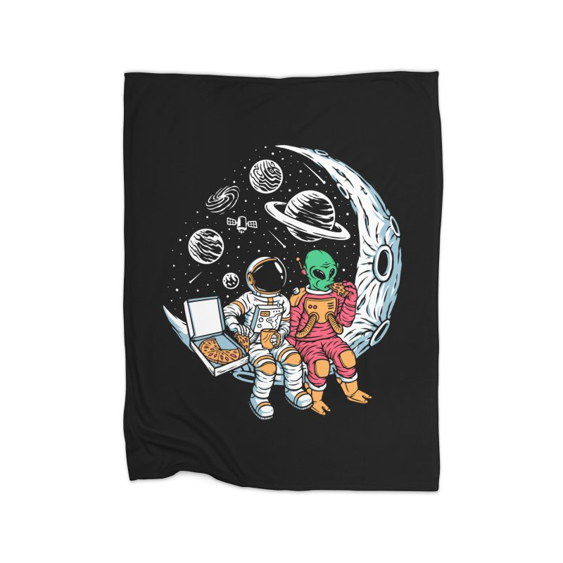Pizza Party In Space Home Blanket by Far Out Sky - A Popular Ventures Company