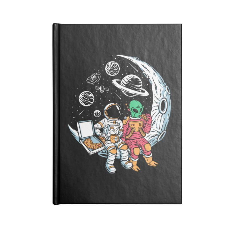 Pizza Party In Space Accessories Notebook by Far Out Sky - A Popular Ventures Company