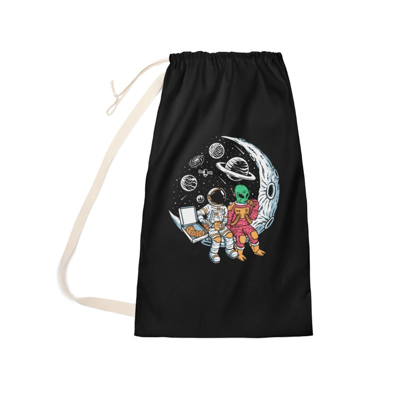 Pizza Party In Space Accessories Bag by Far Out Sky - A Popular Ventures Company