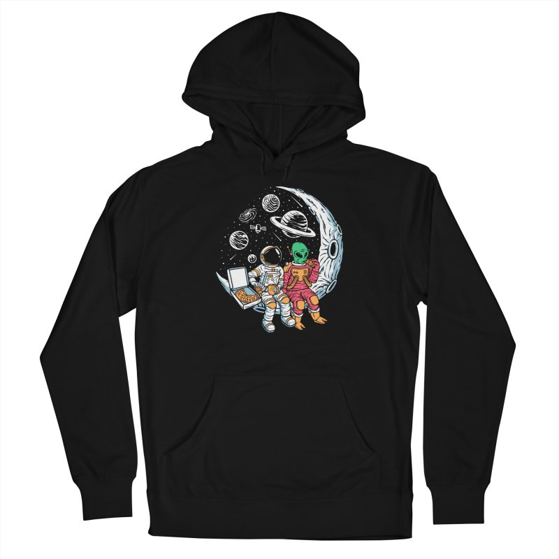 Pizza Party In Space Women's Pullover Hoody by Far Out Sky - A Popular Ventures Company