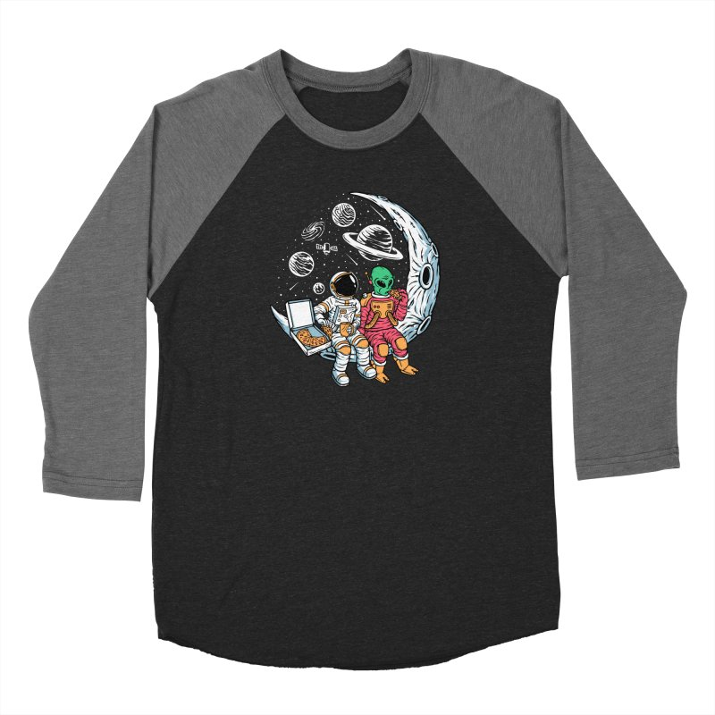 Pizza Party In Space Men's Longsleeve T-Shirt by Far Out Sky - A Popular Ventures Company